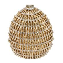 Evening Clutch Bag Luxury Crystal Women Handbag Party Purse evening cluth purse bag Gold wedding Bride