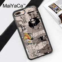 One Piece Anime Printed Mobile Phone Case Cover For iPhone 7 7 Plus 6 6S Plus 5 5S 5C SE 4 4S Soft TPU Skin Back Shell Cover