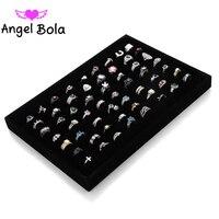 Pryme Ring Jewelry Trays Black Beige Linen Tray Case Holder Stand Storage Holder Case Box Jewelry Display 35.5x24.2x3.3cm DB 002
