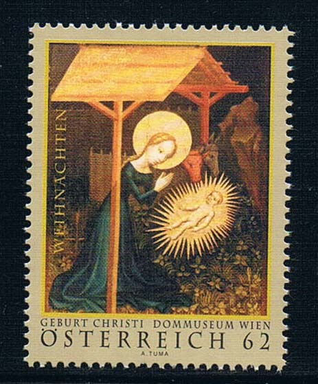 AU1146 Austria 2011 Christmas religious painting stamp 1 new 0712 ea1475 uganda 1990 blue butterfly stamp 9 new low face value 0712