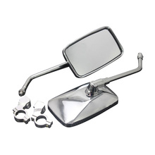 Cycling Rectangle Mirror Reflector Handlebar And Eearview Mirror Bicycle Parts Bike Bicycle Rear View Mirror Classic 2pcs sliver