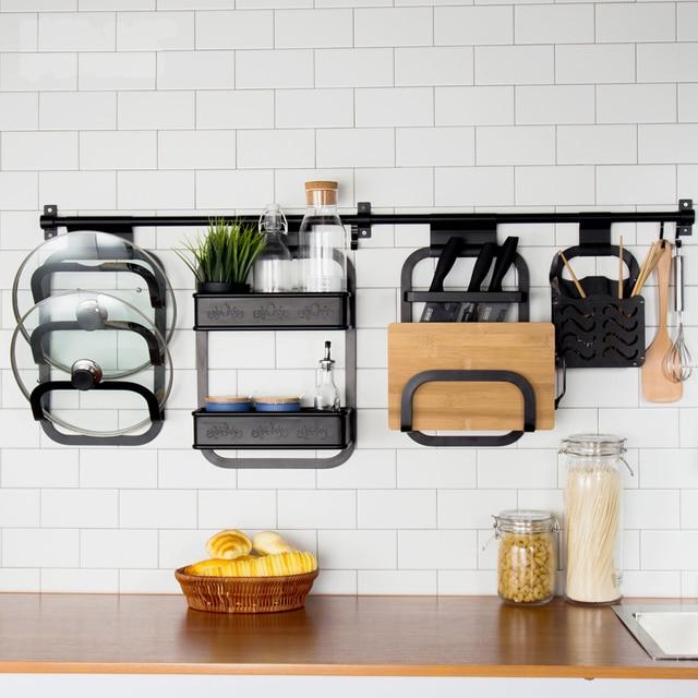 Multifunction Kitchen Storage Holder Rack Diy Wall Hanging Shelf Racks E Tableware Dish Organizer