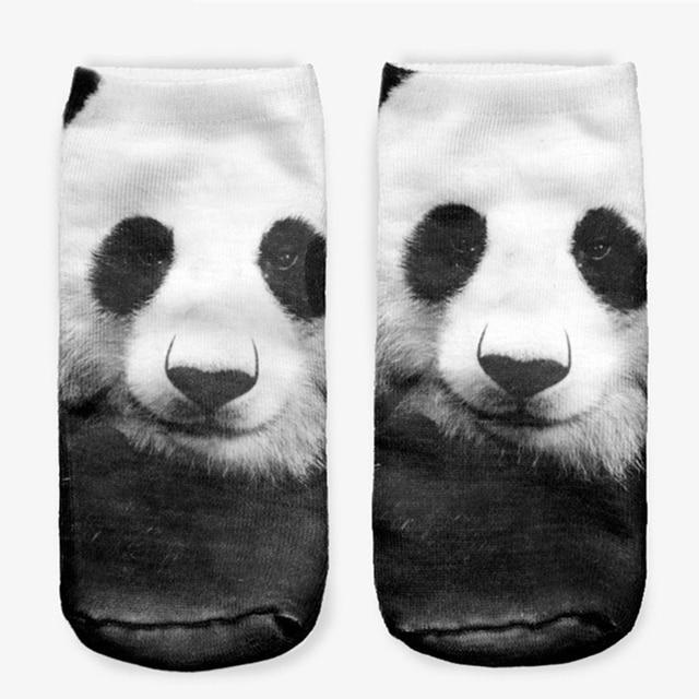 Hot Sales China Panda 3D Full Printing Women Men Low Cut Ankle Sock Lovely Sokker Hosiery Socks