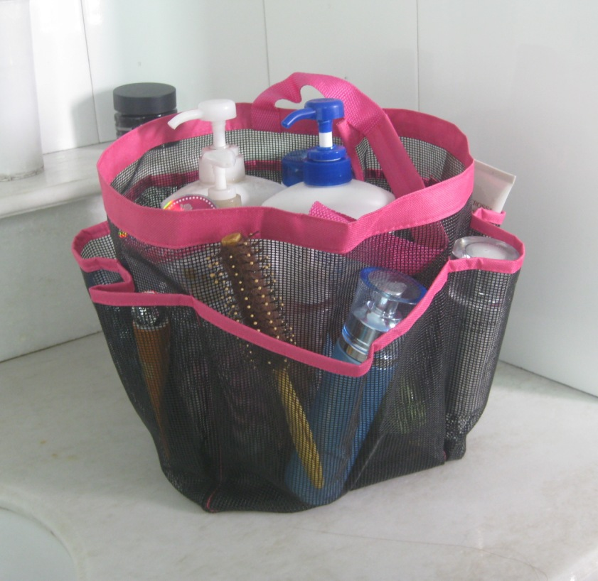 2015 New Travel Mesh 8 pocket shower caddy Tote Bag Oxford cloth ...
