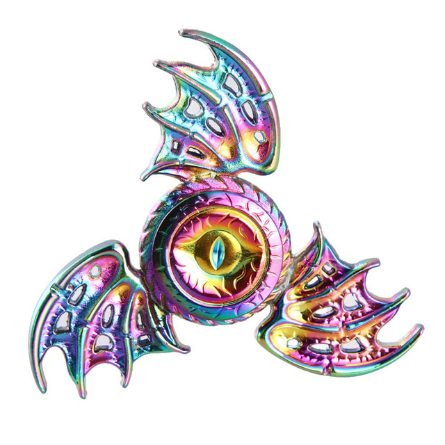Rainbow Dragon Eye Wings Hand Fidget Spinner