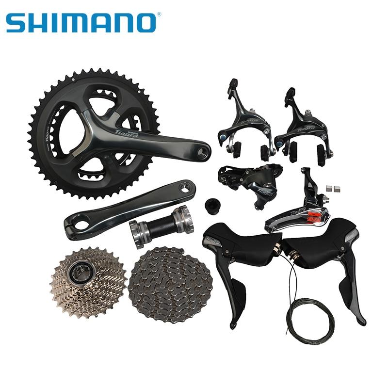 SHIMANO Tiagra 4700 Road Bike Bicycle Groupset Groups Compact 2x10-Speed Bicycle Parts Bike Derailleur 170mm 34/50T CrankSet цены
