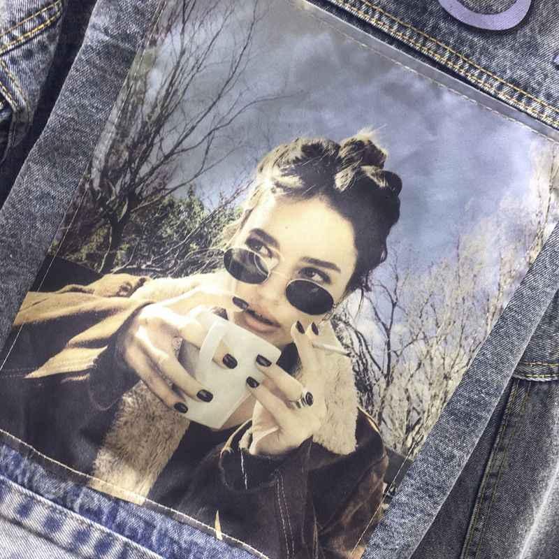 2019 Korte Denim Jas Vrouwen Lente Herfst Vintage Jeans Jas Vrouwelijke Koreaanse Jassen en Jassen Vrouwen Campera Mujer 3201 KJ2213