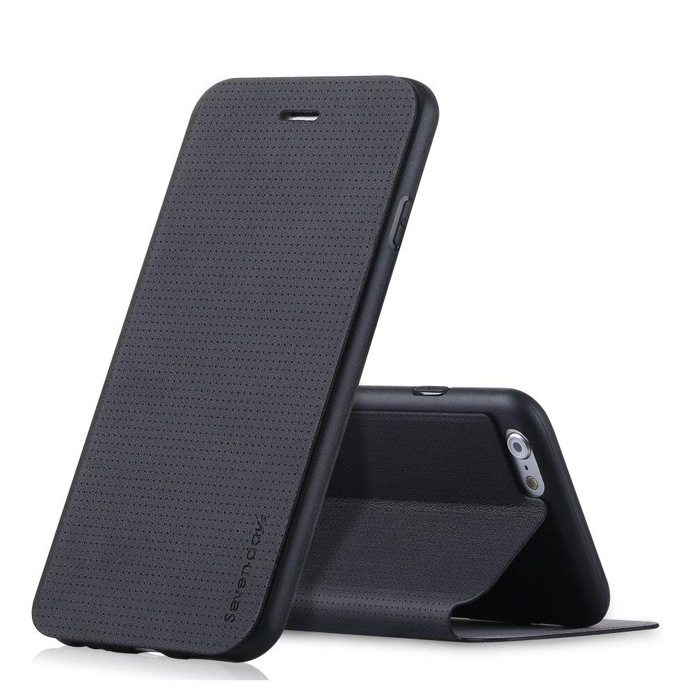 imágenes para Envío de la Alta calidad de la respiración Pipilu caja del teléfono para el iphone 6/6 s 7 caso de Cuero de LA PU caso para el iphone 6 7 Plus/6 s Plus caso