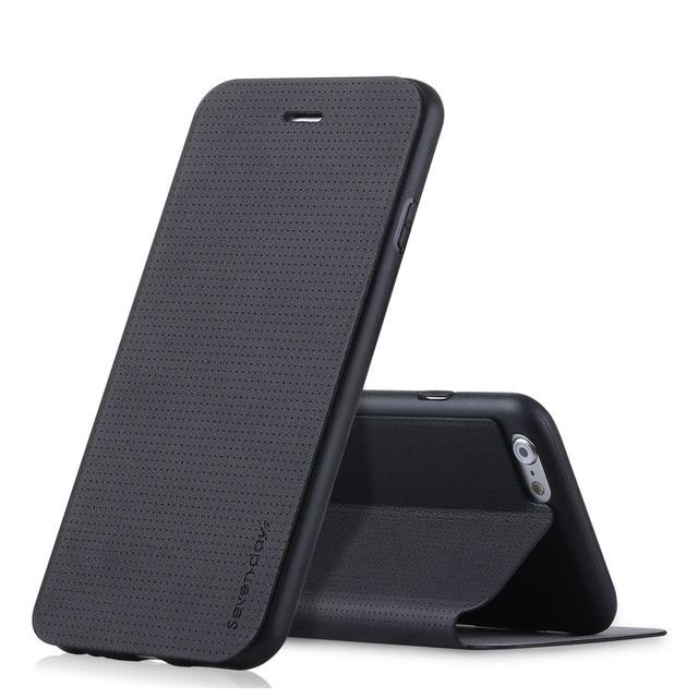 Case iPhone skórzany z klapką różne kolory 6/6S  6/6S plus