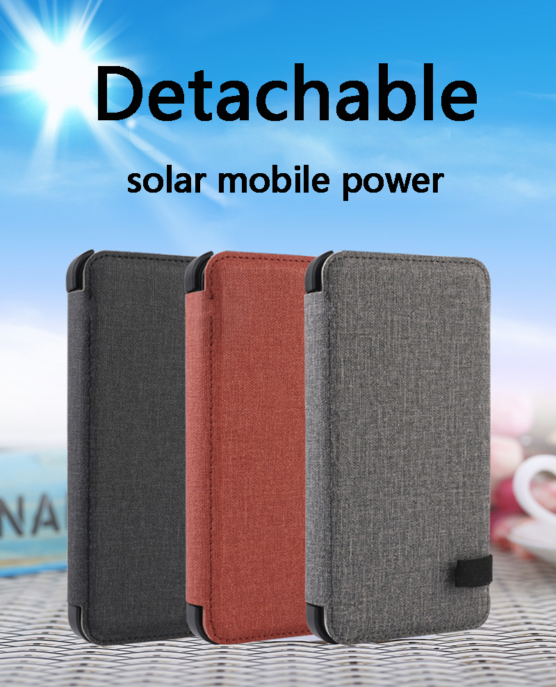 Image 2 - 20000mAh  Waterproof solar power bank Solar Charger External Battery Backup Pack For cell phone Tablets For iphone Random color-in Power Bank from Cellphones & Telecommunications
