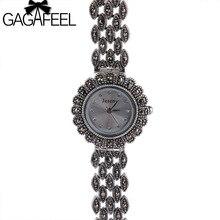 GAGAFEEL 925 Sterling Argent Montre pour Dame Femmes Montre À Quartz Élégant Femme de Thail Argent Montres