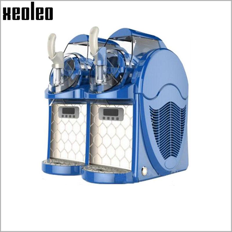 Xeoleo Mini Ice cream maker Slush machine Mini Slusher Soft Ice cream machine 6L*2 Double tanks 220V/700W Ice slush