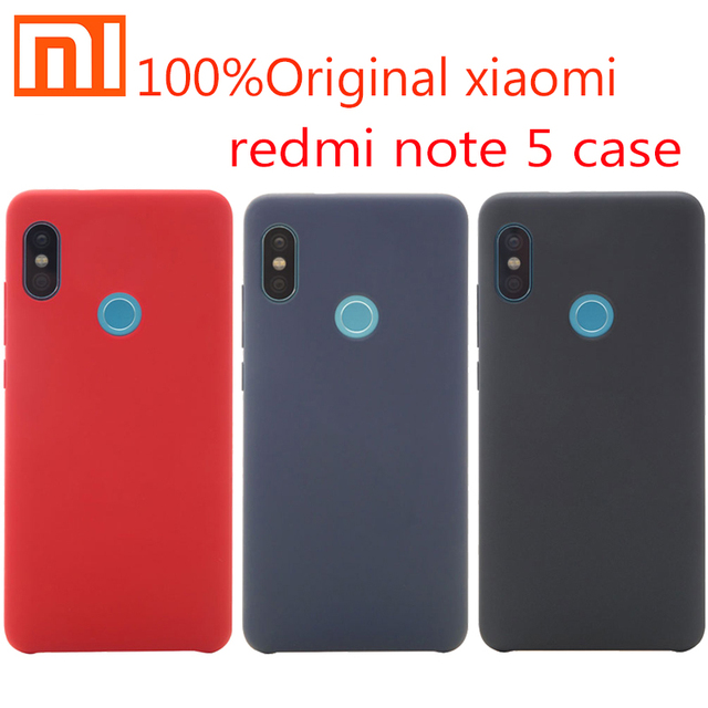 official photos a95d0 9b2bf US $4.85 |Original Xiaomi Redmi Note 5 Case Cover shockproof Snapdragon 636  Phone protective Back Case hard pc + soft fober Redmi Note5-in Fitted ...