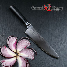 Grandsharp Kochmesser 67 Schichten Japanischen Damaskus Edelstahl VG-10 Damaskus Küchenmesser PRO Kochen Werkzeug-freies VERSCHIFFEN