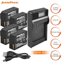 4Pack 7.2V 1800mAh DMW-BLC12 Li-ion Camera Battery+1Port Battery Charger with LED For Panasonic FZ1000 FZ200, FZ300 G5 G6 G7 L10 недорого