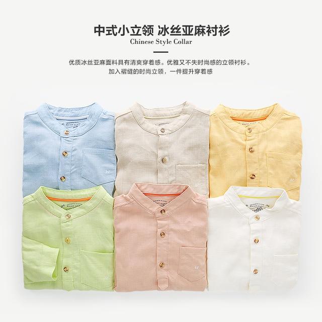 aea55842e Boys linen long-sleeve shirt 2017 spring children's clothing child baby top  shirt u2228