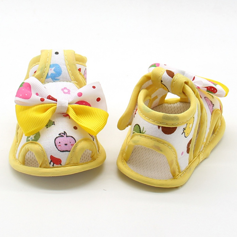 Купить с кэшбэком Bow Autumn Cartoon Toddler First Baby Boy Girl Shoes Sandals Sneakers Moccasins Boots Hot Sapato Menina
