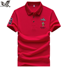 Casual Polo Shirts Men Solid Color 3D Embroidery Summer Short Sleeve F