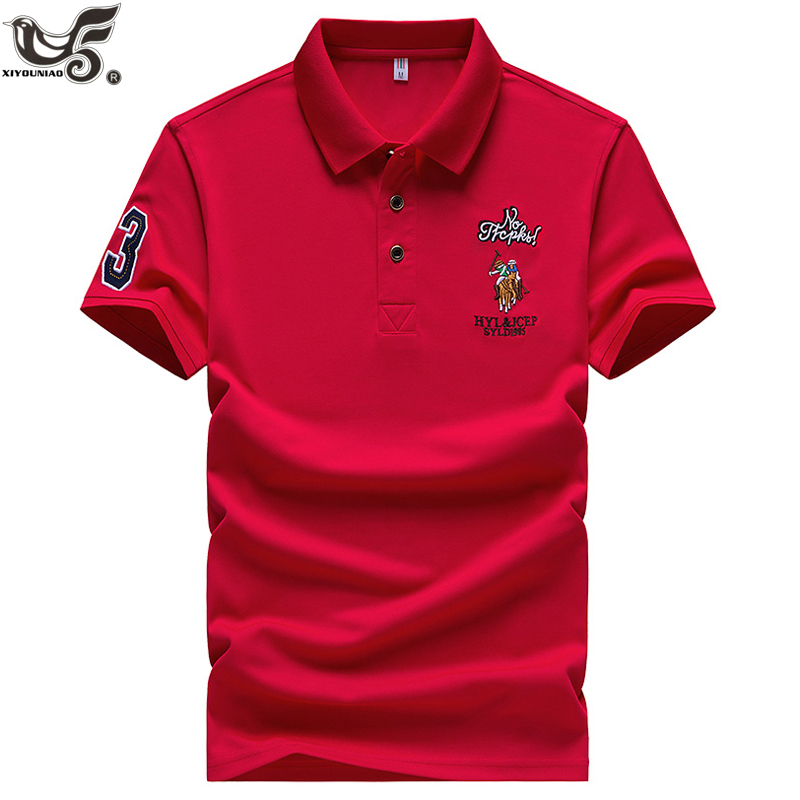 Casual   Polo   Shirts Men Solid Color 3D Embroidery Summer Short Sleeve For Man Slim Fit Camisa   Polos   para hombre Masculina