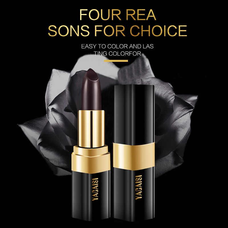 Warna Berubah Lip Balm Tahan Air Makeup Ekstrak Mawar Hitam Lipstik Tahan Lama Lipstik Pelembab Seksi Bibir Merah 1Pcs