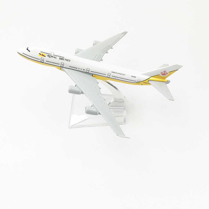 Royal Brunei Airlines modelo avión Boeing 747 avión 16CM aleación de Metal fundido a presión 1: 400 juguete modelo de avión para niños gratis