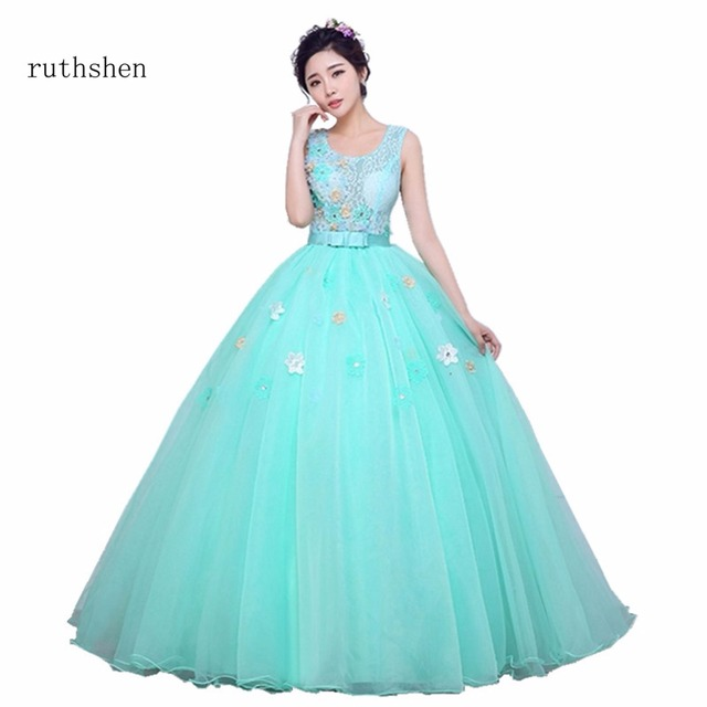 ruthshen Real Photos Cheap Lace Debutante Masquerade Prom Ball Gowns ...