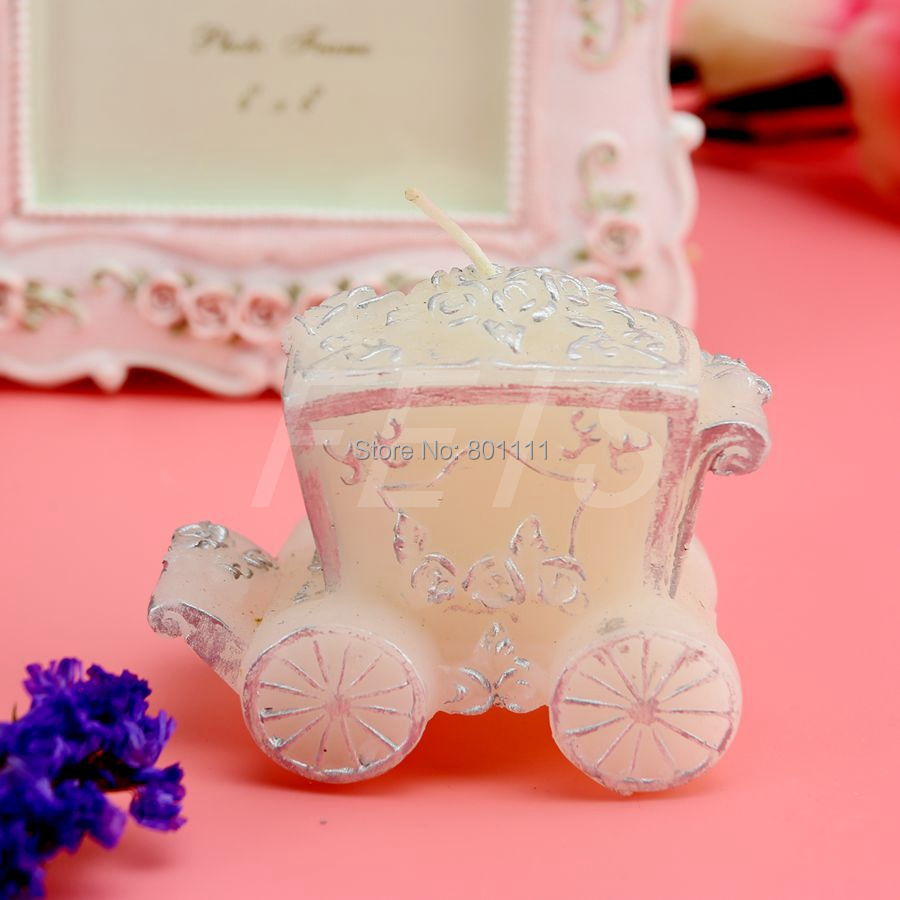2015 Hot Rose princess \'Cinderella \' Carriage Birthday candle wax ...