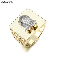 VANAXIN Vintage Mens Religious Praying Hands Ring Men Ring For Men Jewelry Hip Hop Party Jewellery