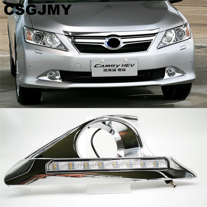 2PCS For Toyota Camry 2012 2013 2014 LED DRL Daytime driving Running Lights Daylight Waterproof Fog