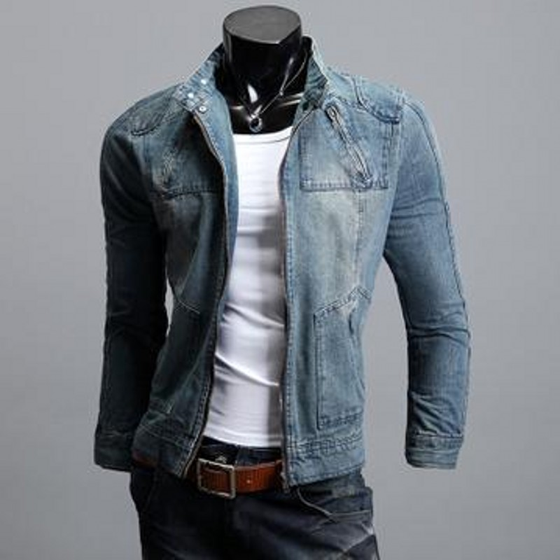 Manteau Jacket Jeans Homme Men's Fashion Jackets 2019 Zipper w80vNmnO