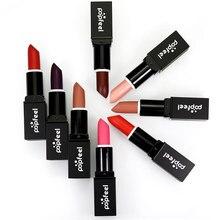 8 color POP FEEL matte lipstick labiales matte larga duracion glitter lipstick mate lipstick