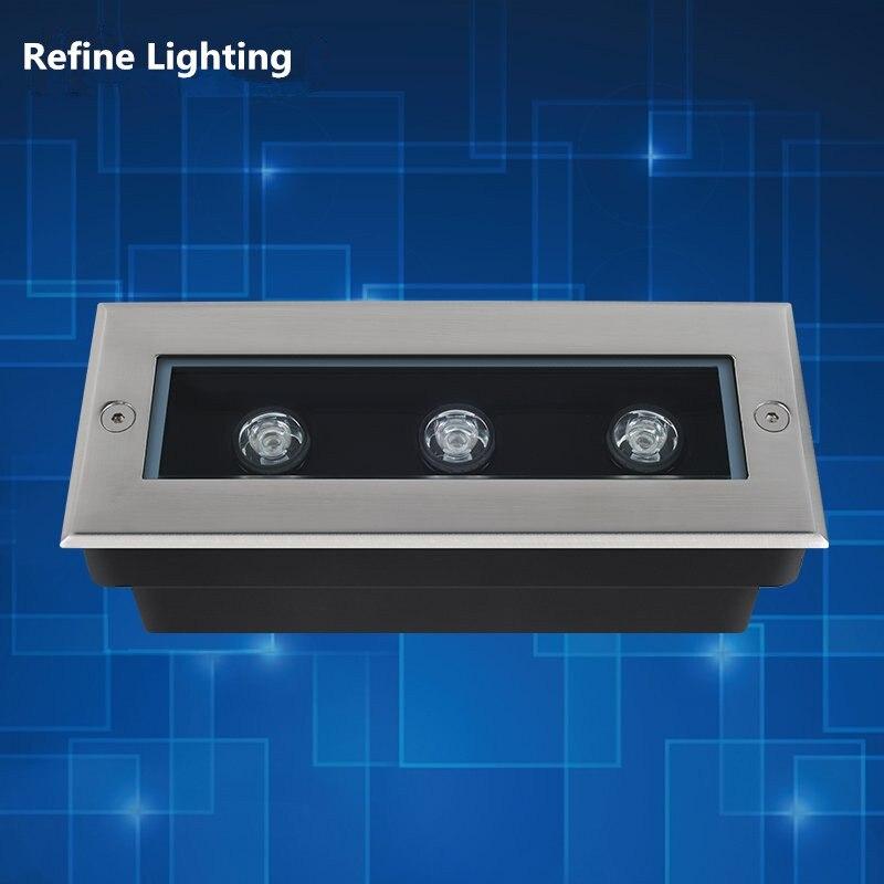 LED Underground Lights 3W Outdoor 12V/AC85-265V Grondspot Stufenlicht Treppe LED Exterieur Encastrable Rectangle LED Buried Lamp