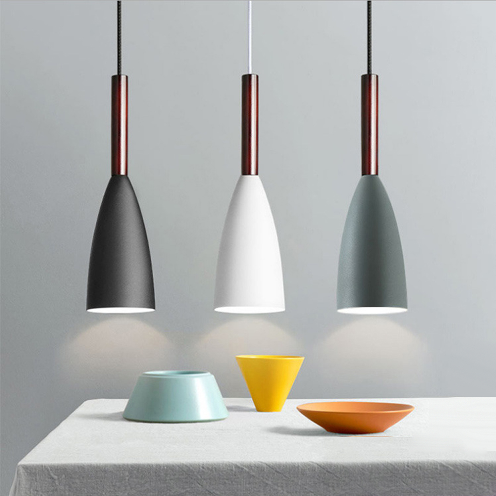 Nordic Loft Simple Pendant Lights E27 LED Modern Creative Hanging Lamp Design DIY For Bedroom Living Room Kitchen Restaurant