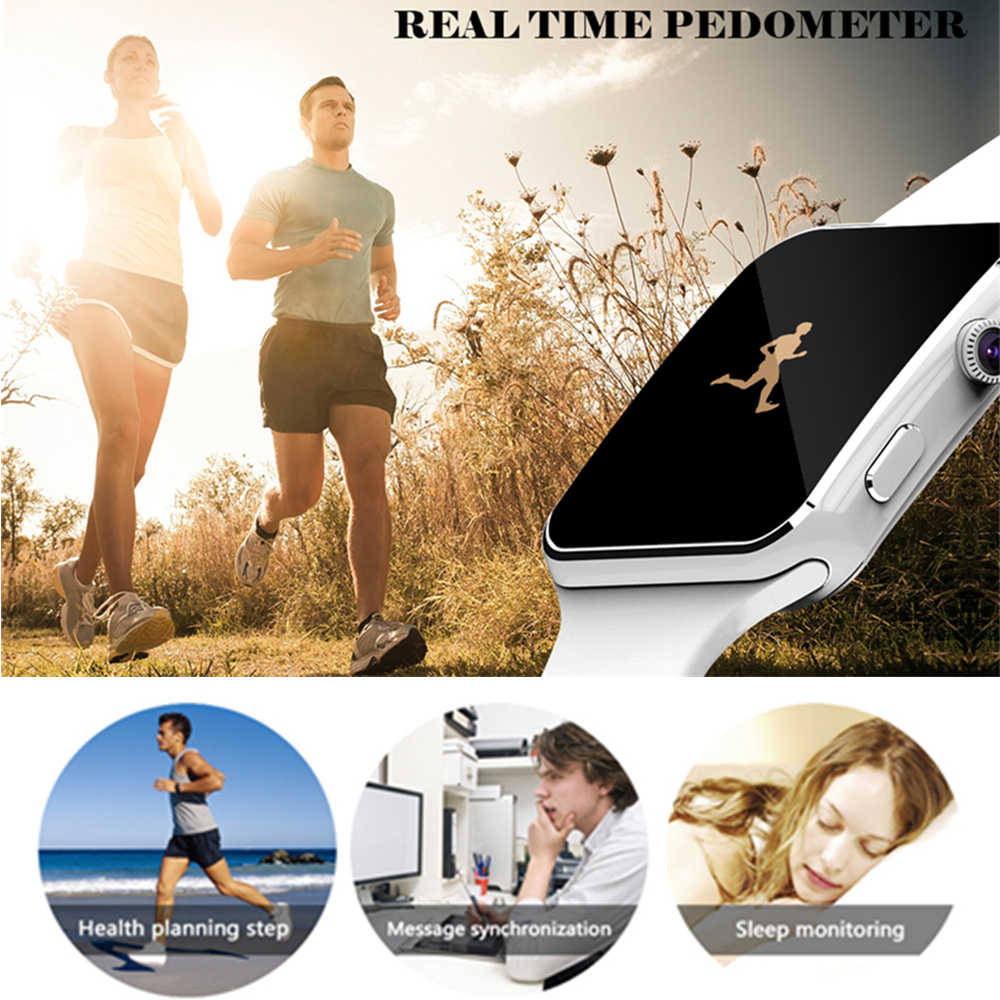 Smart Watch Clock With Sim Card Slot Push Message Bluetooth Connectivity Android Phone Better Than DZ09 Smartwatch Men Watches