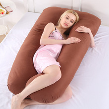 Pregnant woman sleeping pillow lying on the side of pure cotton can disassembly and washing maternity u type NAP cushion