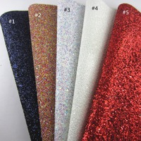1 Yard Chunky Glitter Fabric Mix Color Glitter Fabric Leather PU leather fabric DIY craft project Y002