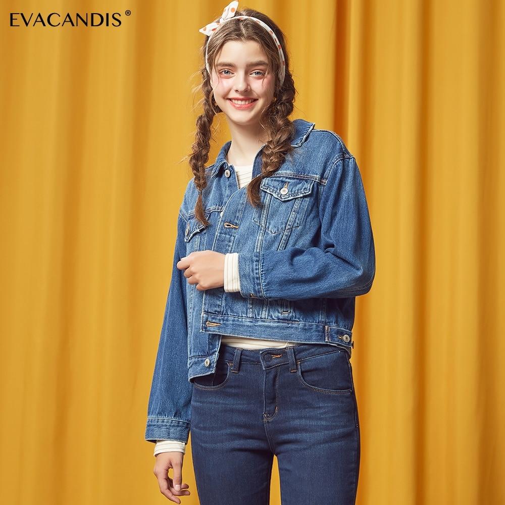 Bleu Harajuku Ciel Automne Bomber 2018 Femmes Gland Coréenne Manteau pu  Jeans Denim Streetwear Chic Casual Veste ... 06a5c4a61be
