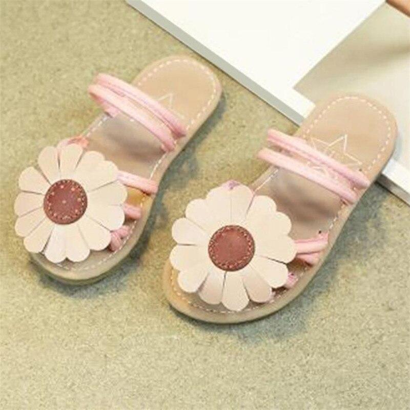 Children Infant Kids Girls Sunflower Sandals Slipper -2113