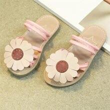 65441b3abf74a8 Children Infant Kids Girls Sunflower Sandals Slipper Casual Beach Shoes  Flip Flops flat heels soft S3APR6