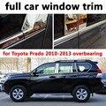 Для Toyota Prado 2010-2013 властный Автомобиль Внешние Аксессуары полный Отделка Окна Из Нержавеющей Стали Украшения Полосы