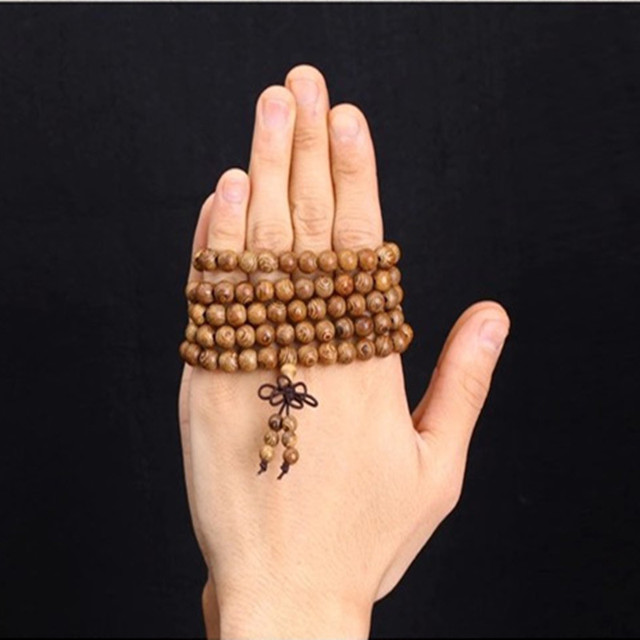 Natural African Woo Bracelet Buddhist Style