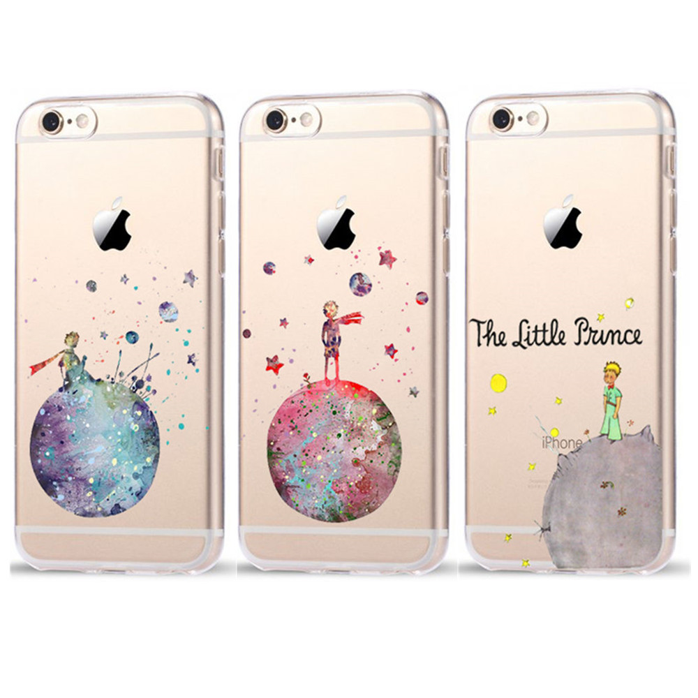 buy online d1382 50a9d Cartoon The Little Prince The earth space Plastic Cover Case For iPhone 6  6S 7 8 X Plus 5 5S SE XR XS Max Case Coque Fundas