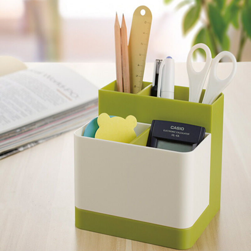 Removable segregated Desktop debris storage box plastic makeup organizer mobile phone remote control stationery case