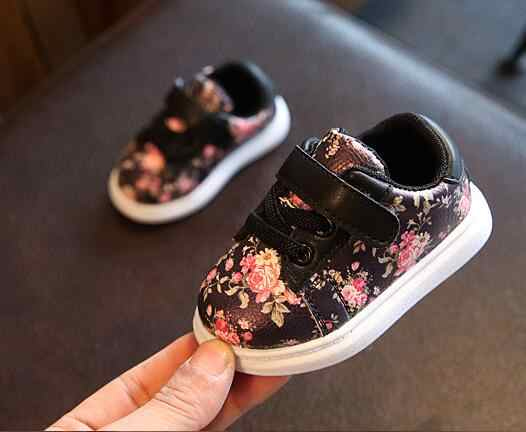 Causal baby girl shoes Flower printing kids sneaker toddler children shoes hot sale baby Moccasins Toddler walker boot lace up