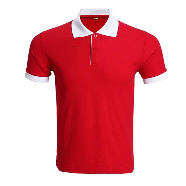 Rojos de la marca de Polo Hombres de la Camisa Polo Homme 2016 de Moda de Verano Corto Camisas de Polo de Color Sólido Ocasional Delgado de la manga Para Hombre Polos Plus Xxxl