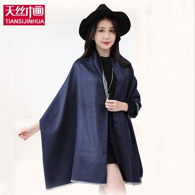 Шарфы женщин пашмины высокой моды 2016 осень зима шарф женщины люксовый бренд Femme Твердые Платки и Шарфы Палантины Foulards