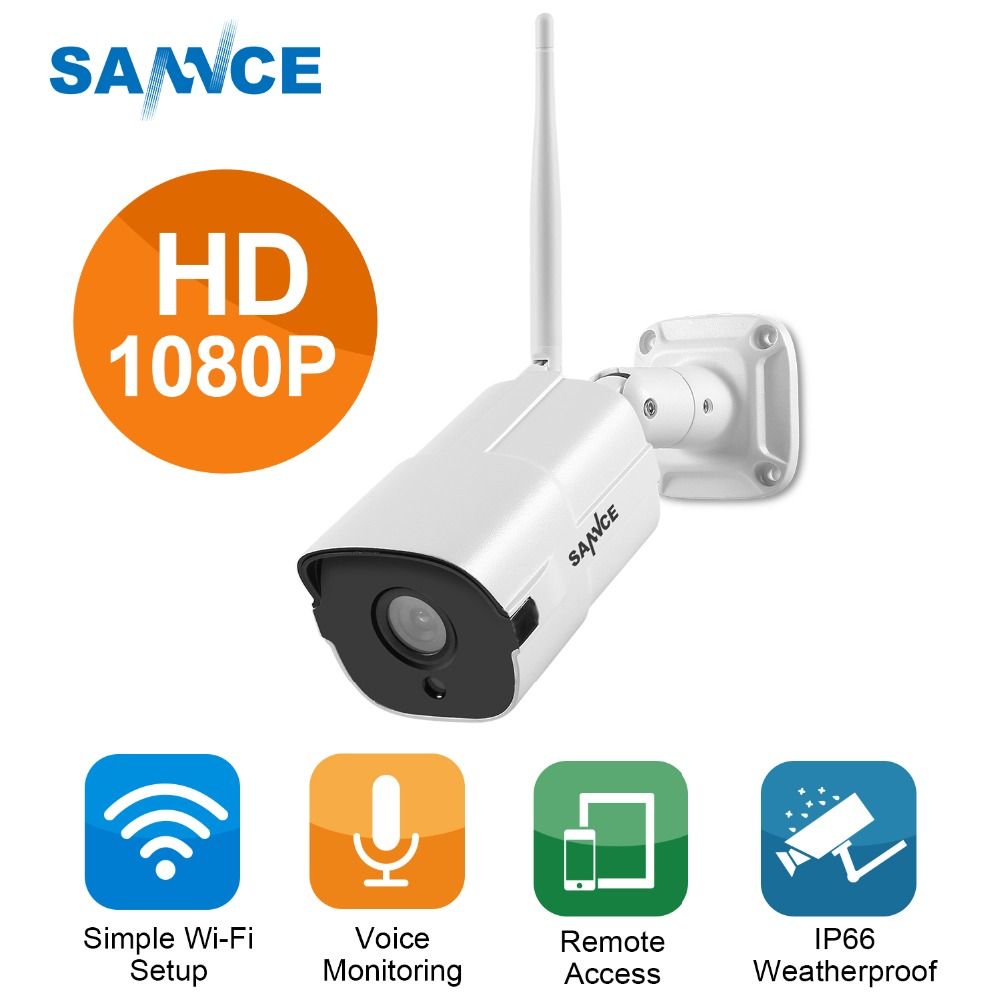 SANNCE 1080P Wifi IP Camera 2.0MP HD Outdoor Weatherproof Infrared Night Vision Security Video Surveillance Camera Baby MonitorSANNCE 1080P Wifi IP Camera 2.0MP HD Outdoor Weatherproof Infrared Night Vision Security Video Surveillance Camera Baby Monitor