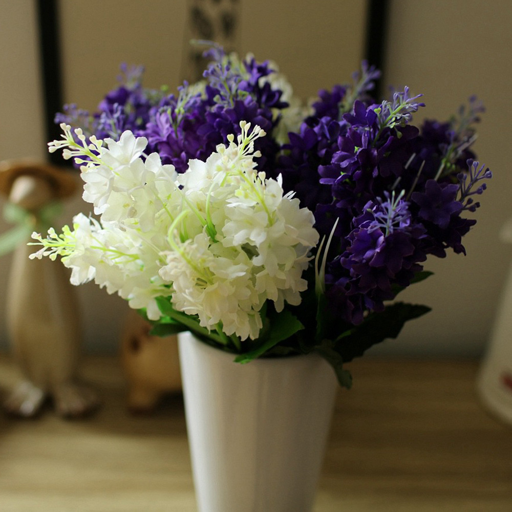 Compare prices on hyacinth bouquets online shoppingbuy low price 1pc plastic 5 heads hyacinth plant silk flower wedding flower arrangement home decorationchina dhlflorist Choice Image