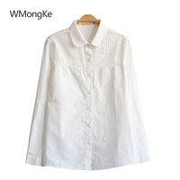 WMongKe Autumn White Embroidery Women Shirt Girl Long Sleeve White Button Up Blouse Lady Casual Peter