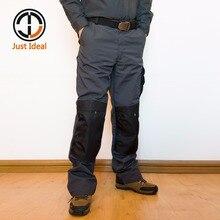 Hombre de combate del ejército trabajo pantalones cargo casuales Multi bolsillos lienzo pantalón Oxford táctico impermeable talla grande ID629